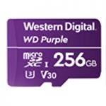 MEMORIA WD 256GB MICRO SDXC PURPLE VIDEOVIGILANCIA 24/7 CLASE 10 U3 V30 LECT 100MB/S ESC 60MB/S