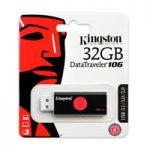 MEMORIA KINGSTON 32GB USB 3.0 ALTA VELOCIDAD / DATATRAVELER 106 NEGRO/ROJO